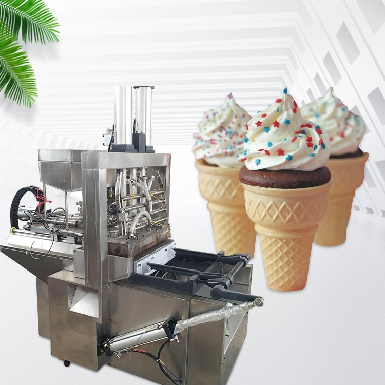 automatic cake cone making machine display
