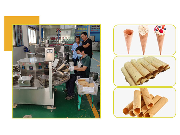 crisp ice cream cones processing
