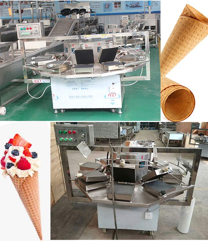 gas-heated ice cream cone maker