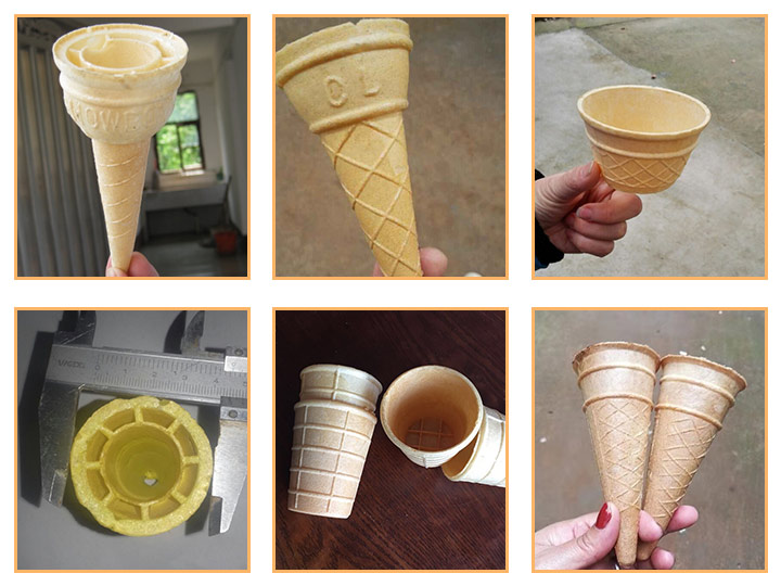 wafer cones with different shapes