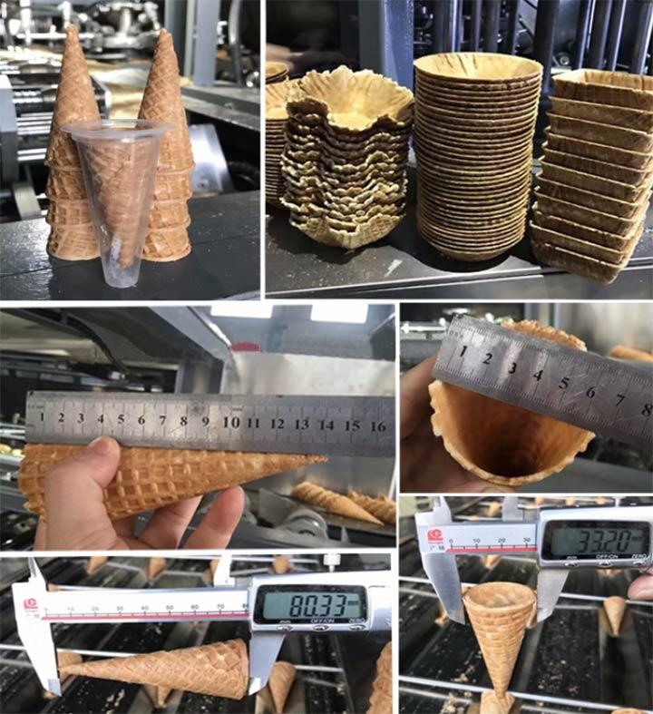 industrial ice cream cones making