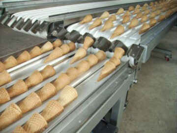 sugar cones made by ice cream cone maker machine